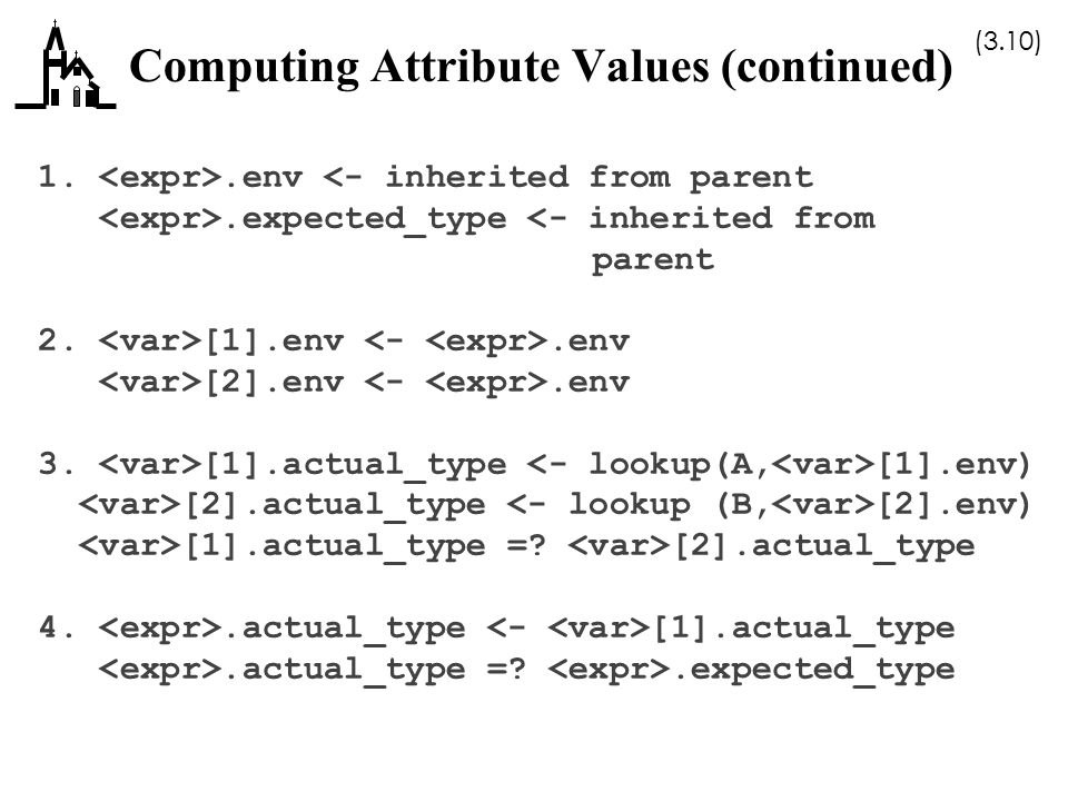 Computing Attribute Values (continued)