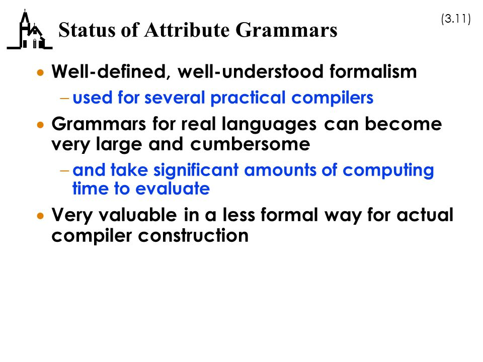 Status of Attribute Grammars