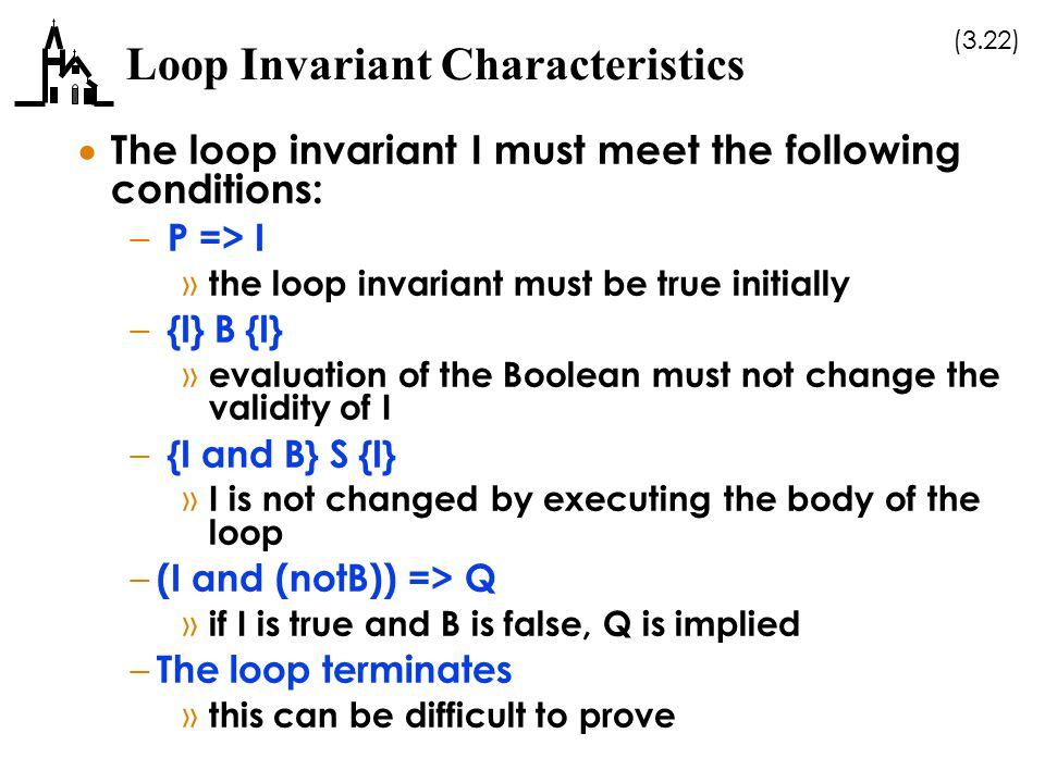 Loop Invariant Characteristics