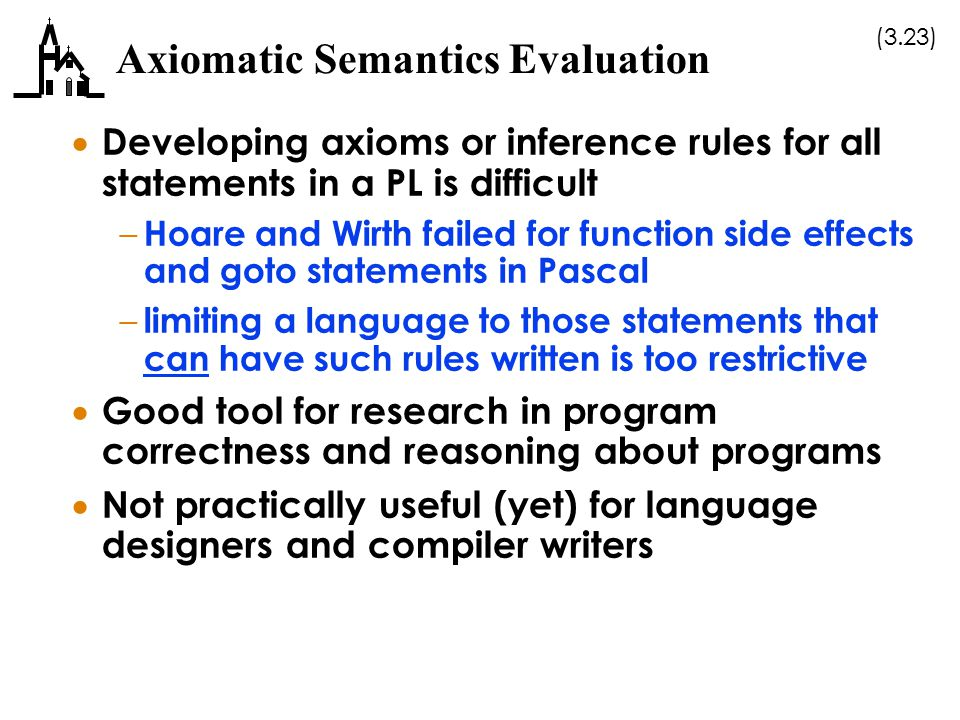 Axiomatic Semantics Evaluation