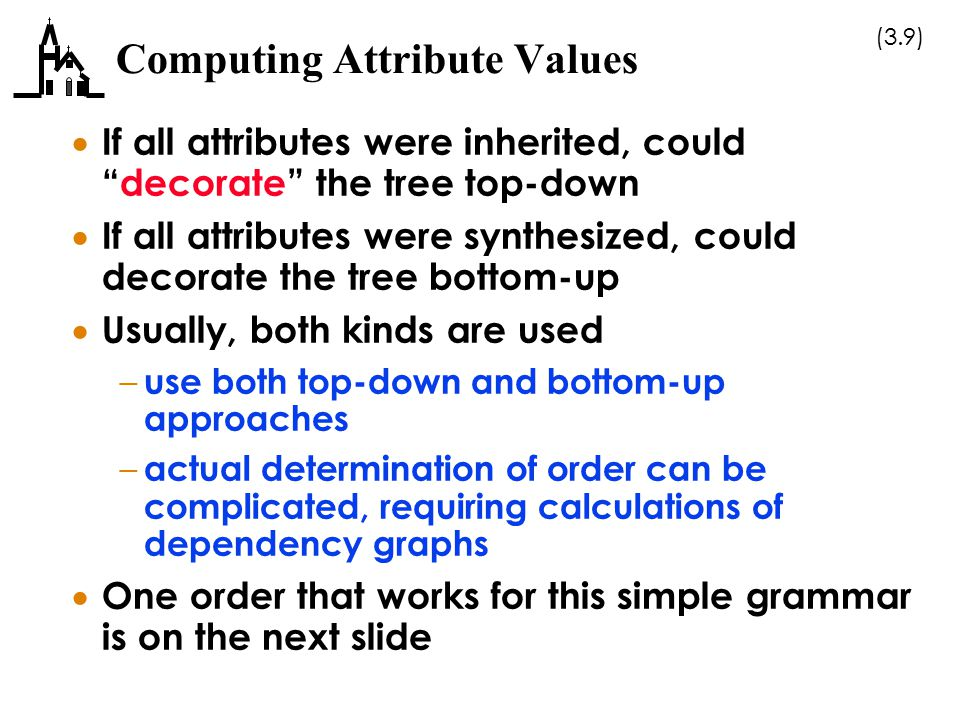 Computing Attribute Values