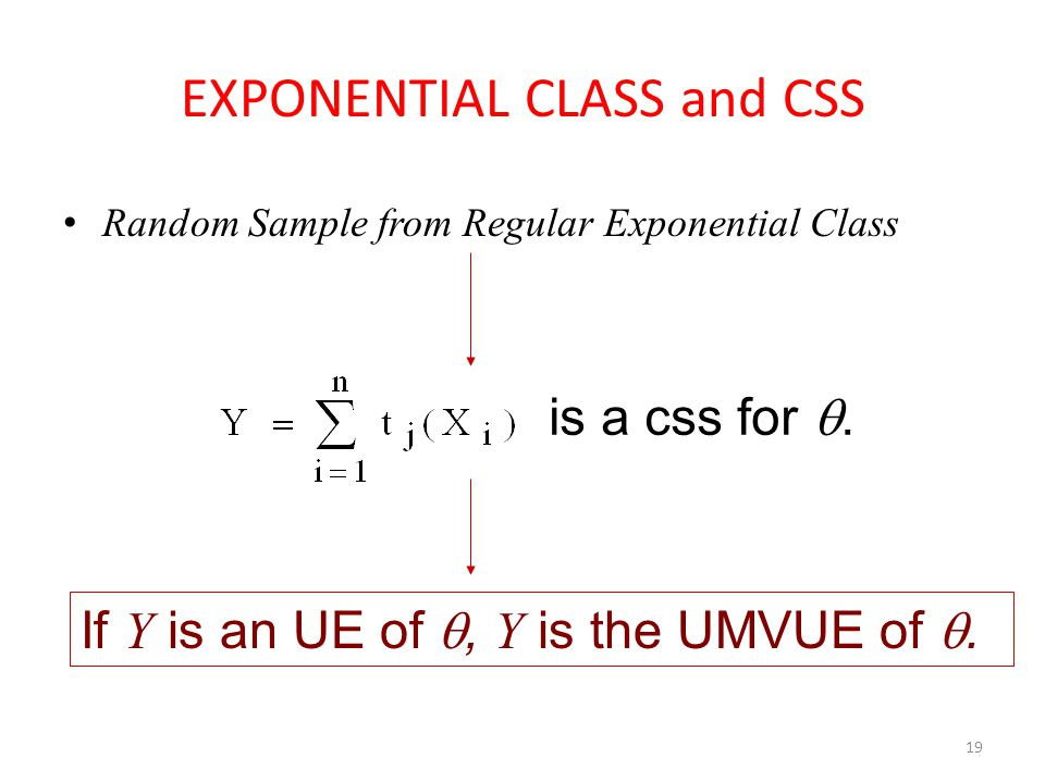 EXPONENTIAL CLASS and CSS