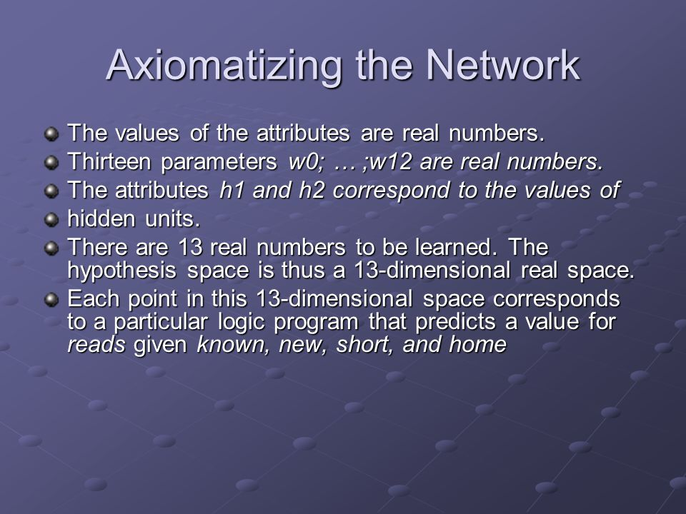 Axiomatizing the Network