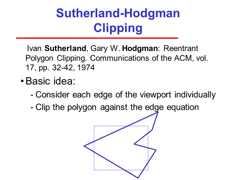 Sutherland-Hodgman Clipping