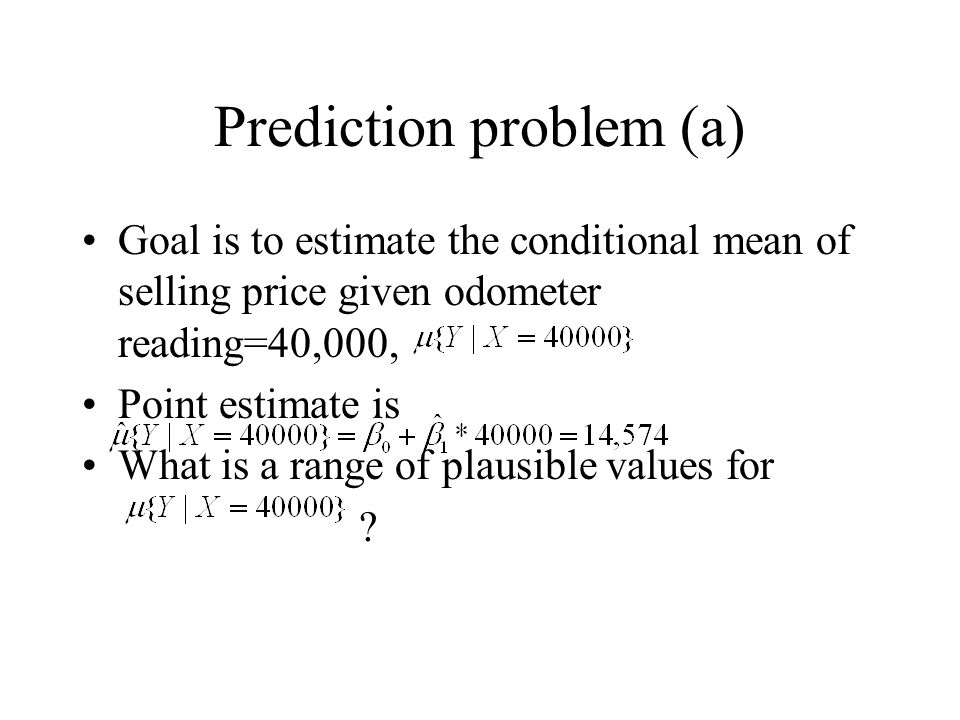 Prediction problem (a)
