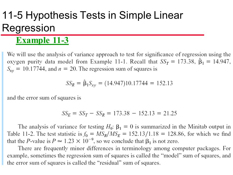 11-5 Hypothesis Tests in Simple Linear Regression
