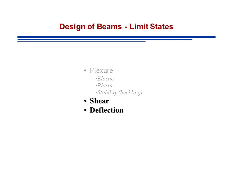 Design of Beams - Limit States