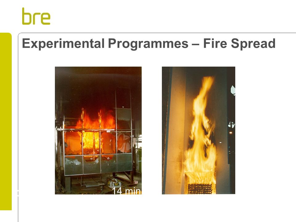 Experimental Programmes – Fire Spread