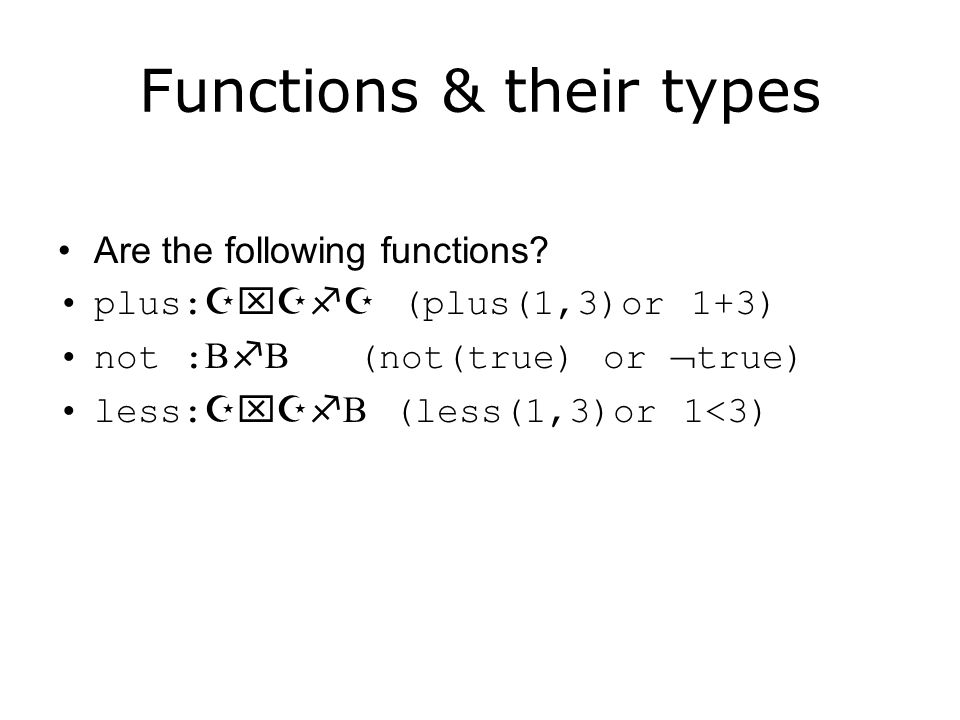 Functions & their types