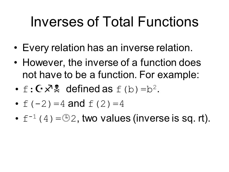 Inverses of Total Functions