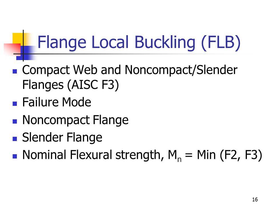 Flange Local Buckling (FLB)