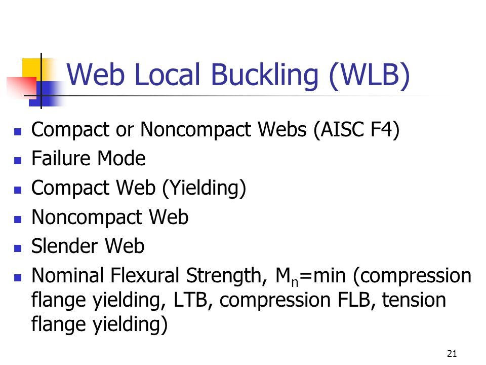 Web Local Buckling (WLB)