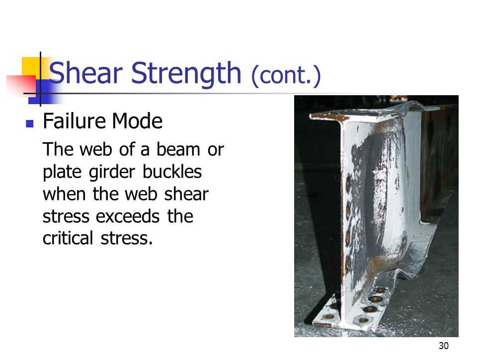 Shear Strength (cont.) Failure Mode