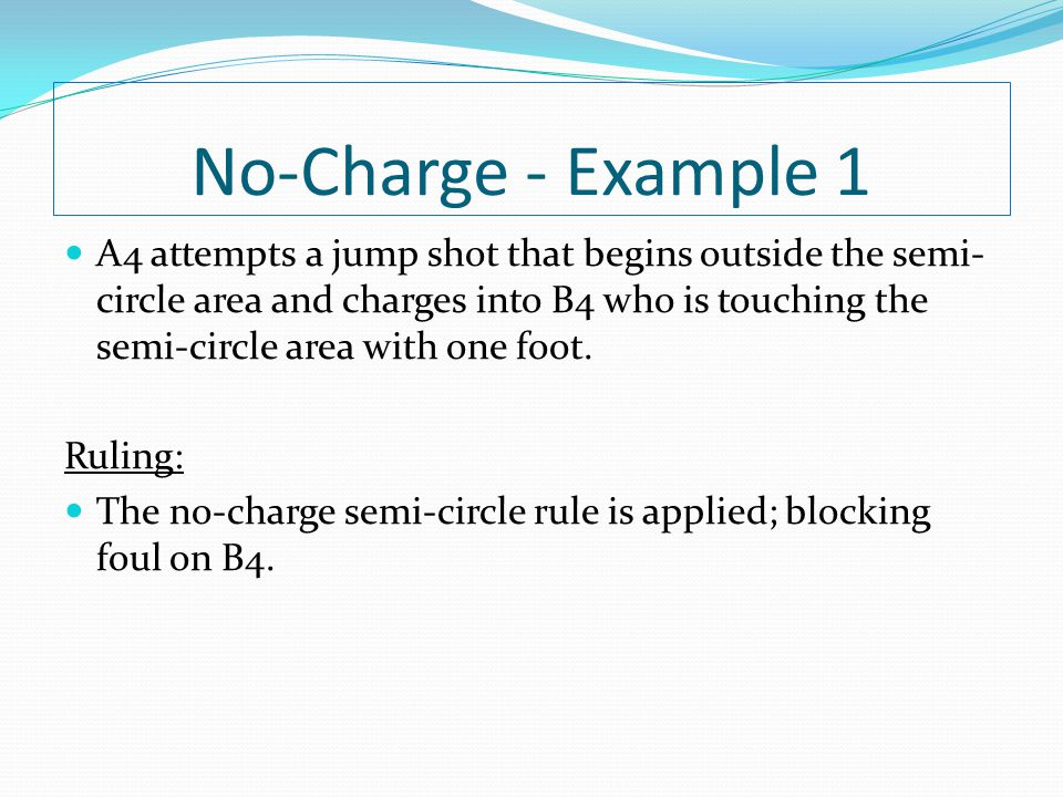 No-Charge - Example 1