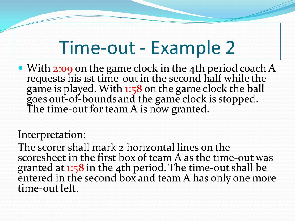 Time-out - Example 2