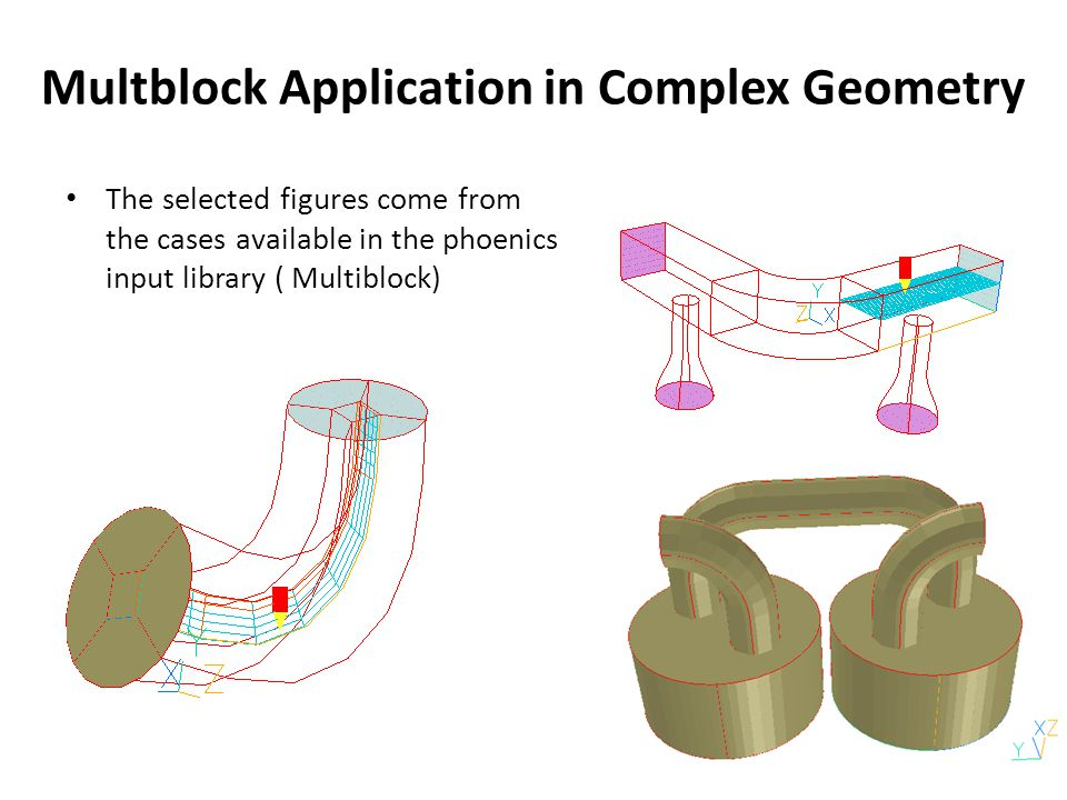 Multblock Application in Complex Geometry