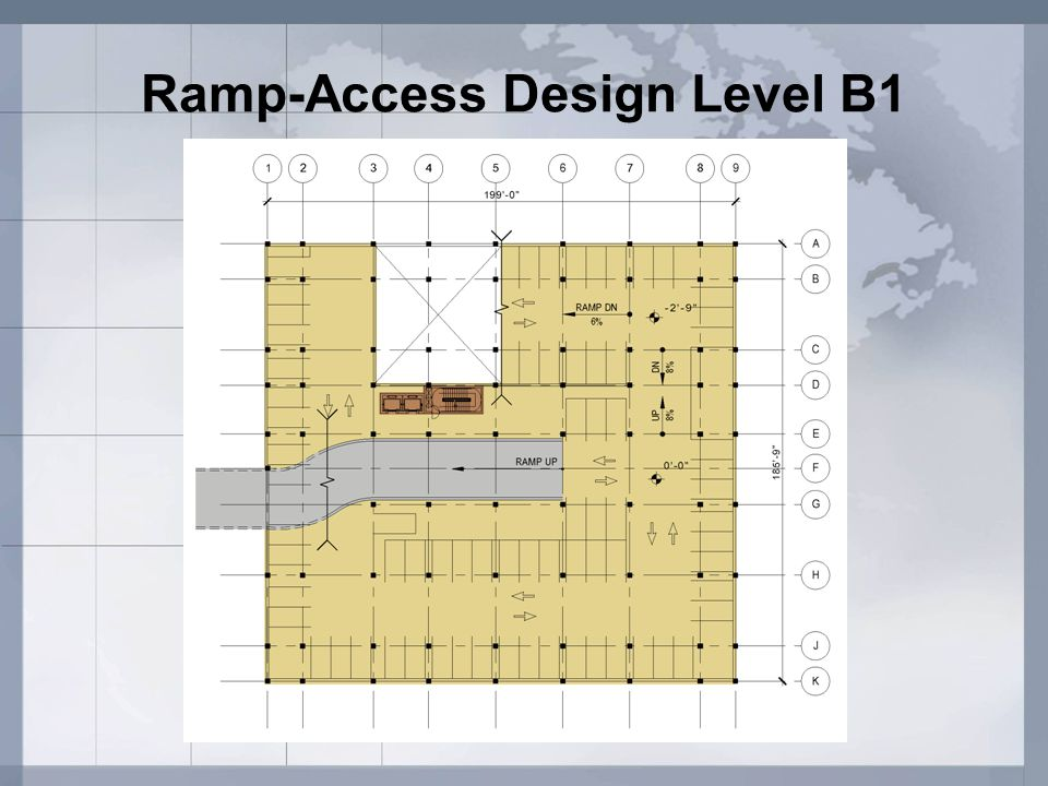 Ramp-Access Design Level B1