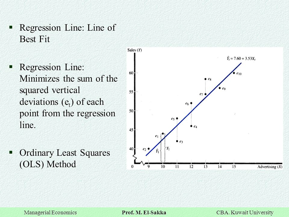 Regression Line: Line of Best Fit