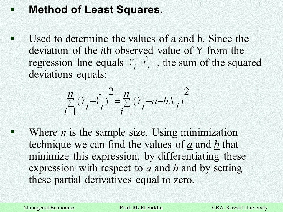 Method of Least Squares.