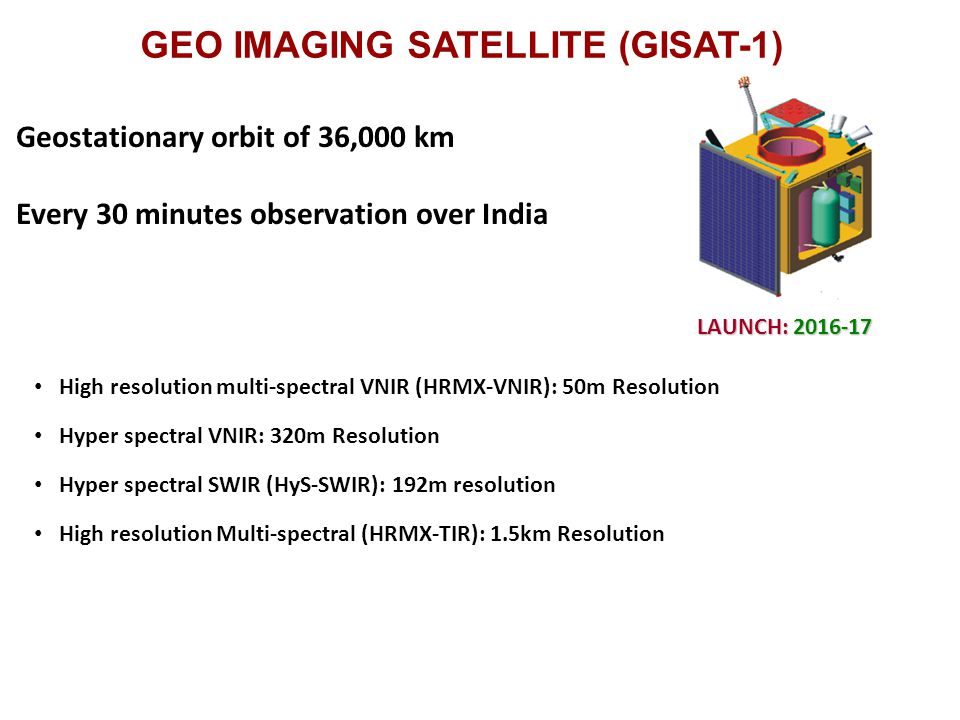 GEO IMAGING SATELLITE (GISAT-1)
