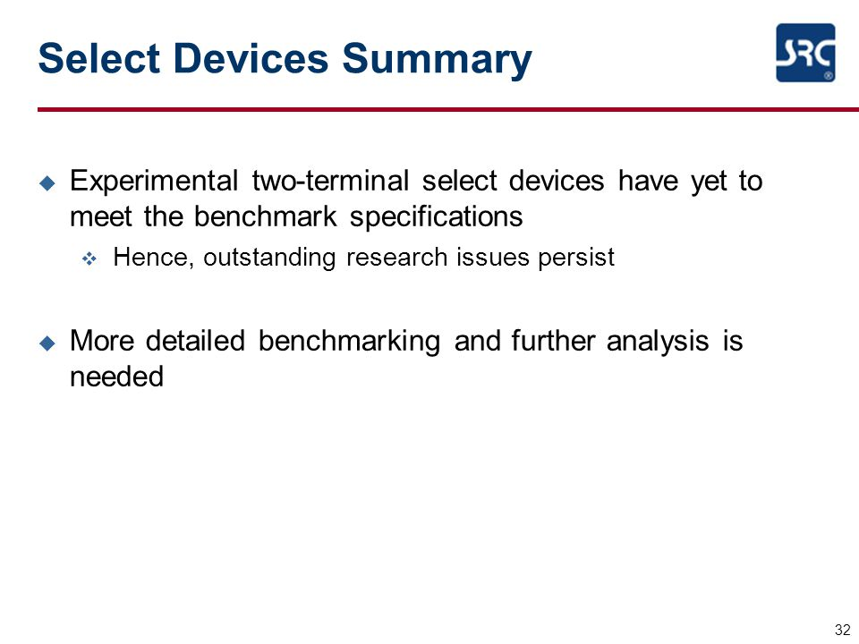 Select Devices Summary