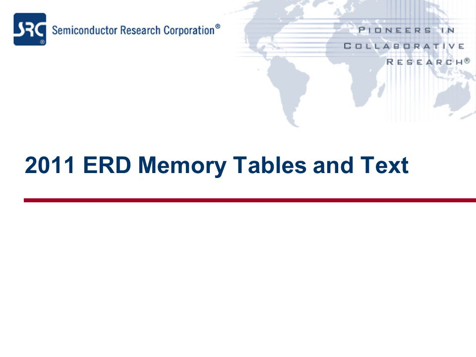 2011 ERD Memory Tables and Text