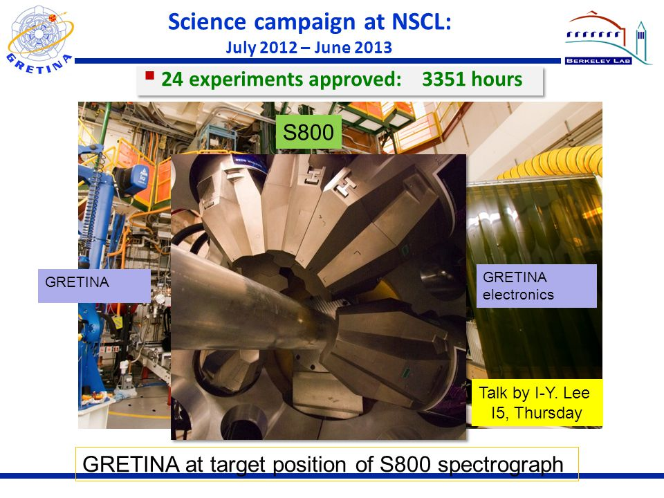 Science campaign at NSCL: July 2012 – June 2013