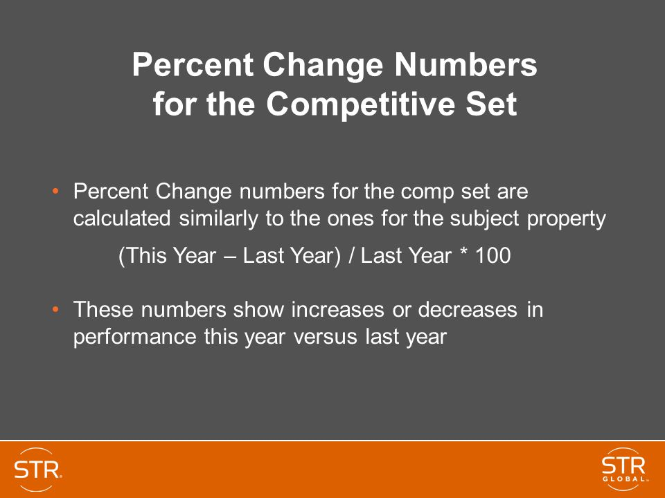 Percent Change Numbers for the Competitive Set