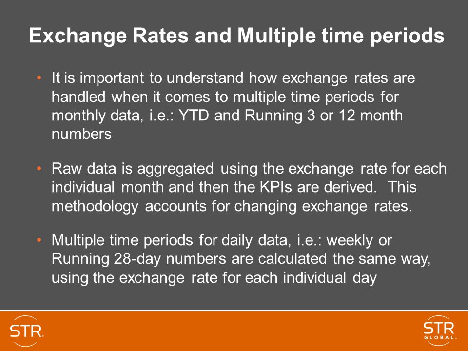 Exchange Rates and Multiple time periods