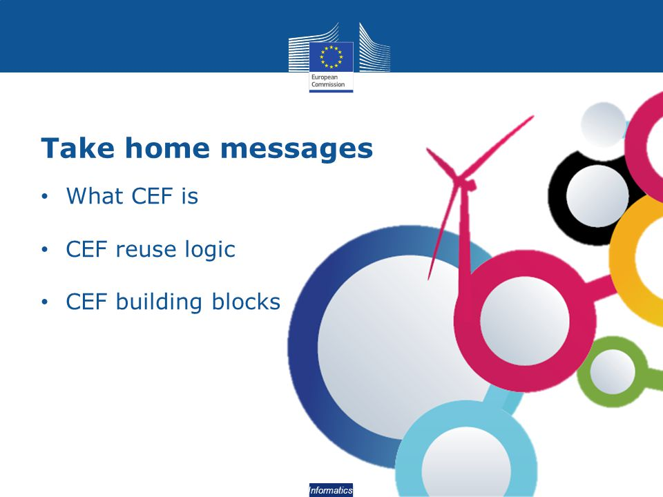 Take home messages What CEF is CEF reuse logic CEF building blocks