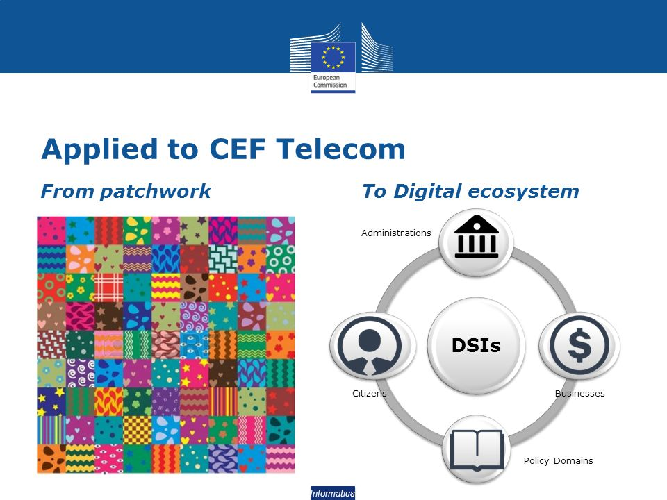 Applied to CEF Telecom From patchwork To Digital ecosystem DSIs