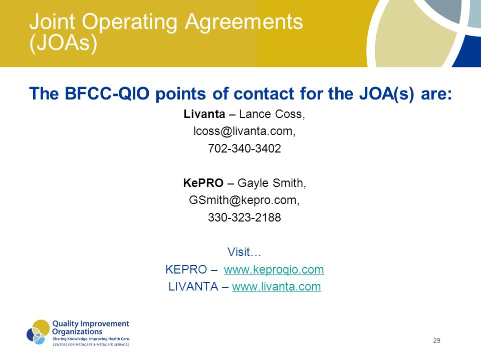Joint Operating Agreements (JOAs)