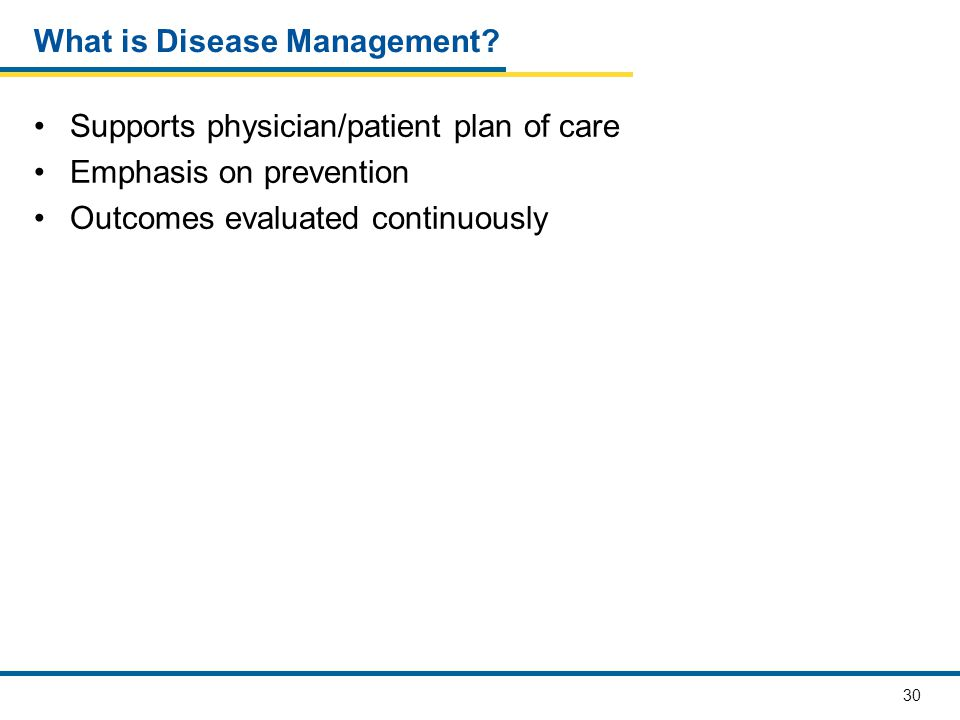 What is Disease Management