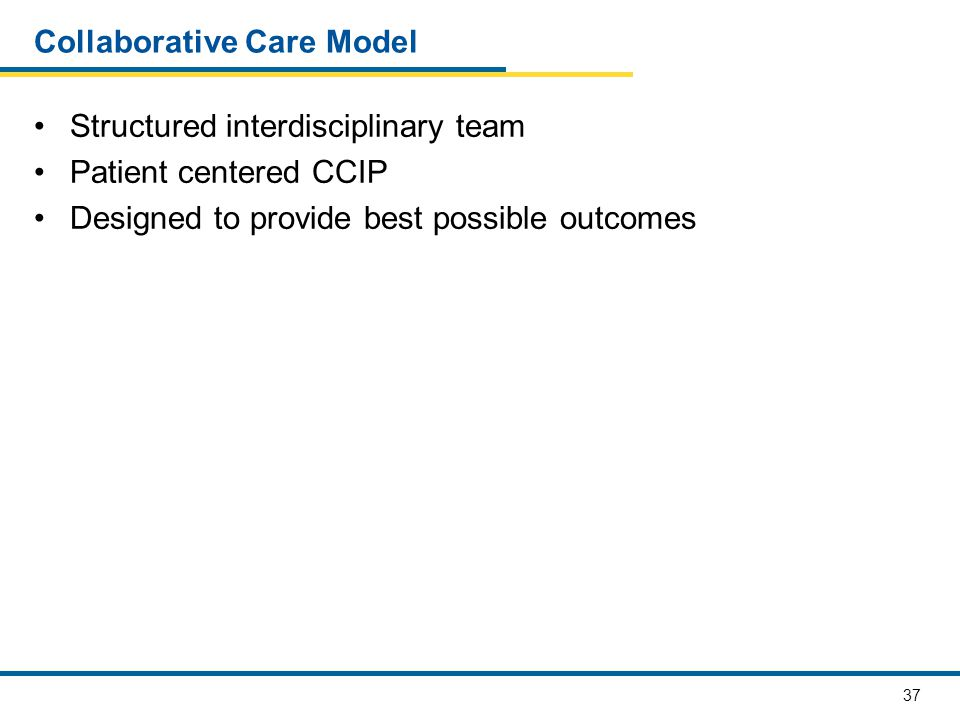 Collaborative Care Model