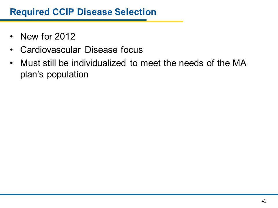 Required CCIP Disease Selection