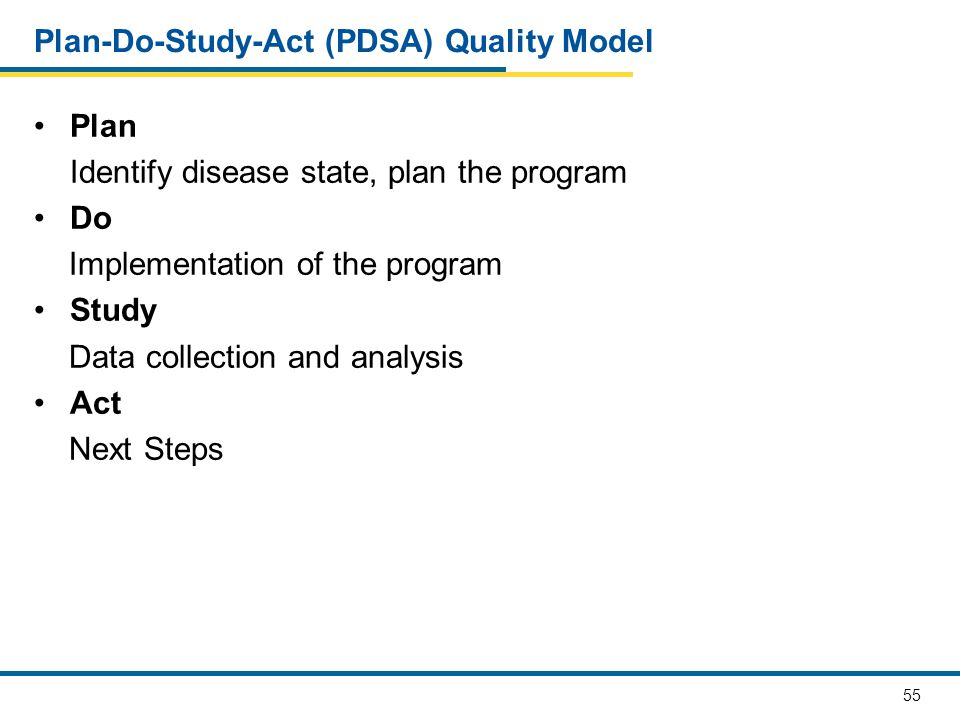 Plan-Do-Study-Act (PDSA) Quality Model