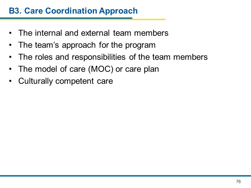 B3. Care Coordination Approach