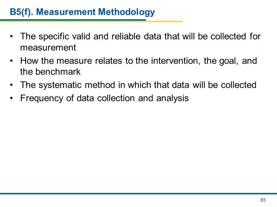 B5(f). Measurement Methodology