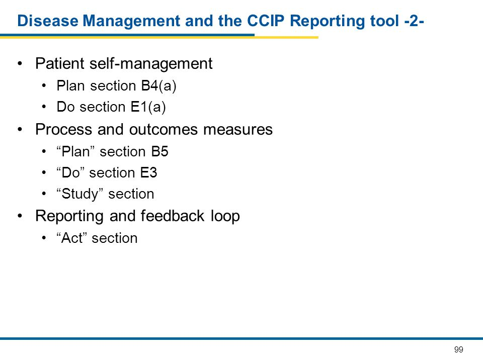 Disease Management and the CCIP Reporting tool -2-