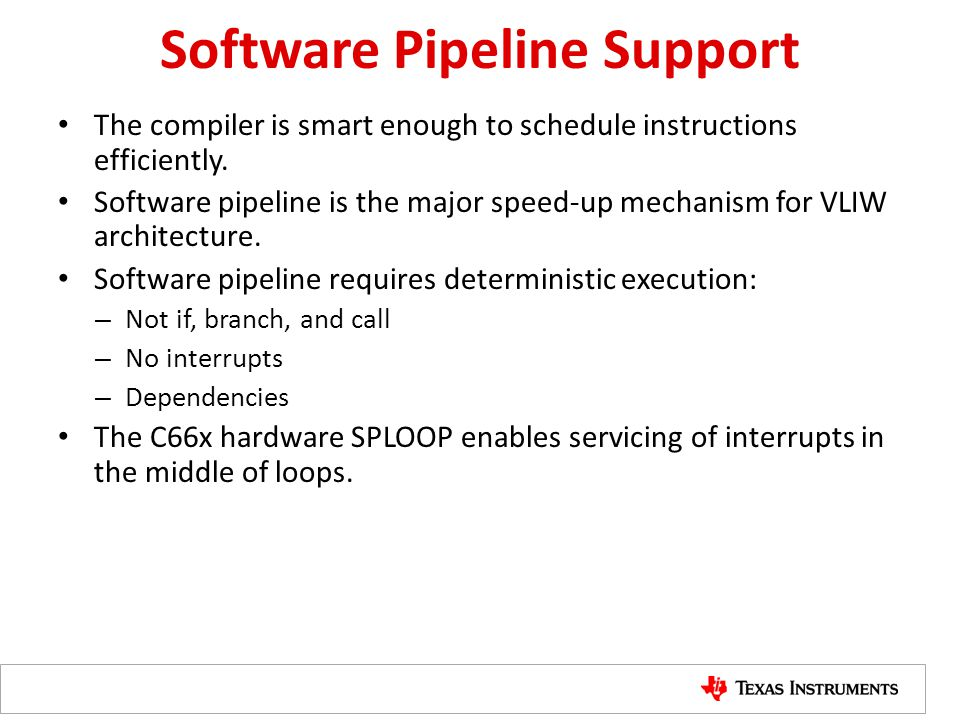 Software Pipeline Support