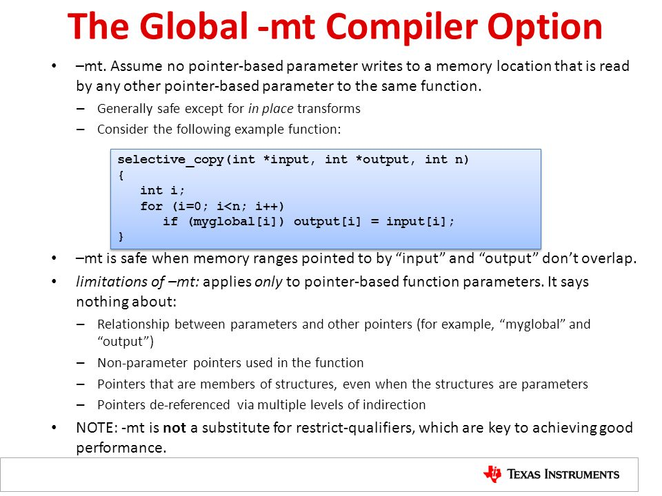 The Global -mt Compiler Option