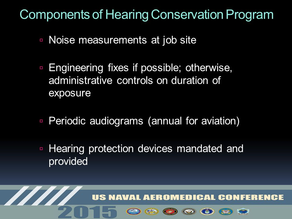 Components of Hearing Conservation Program