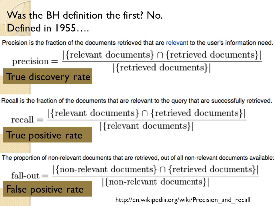 Was the BH definition the first No. Defined in 1955….