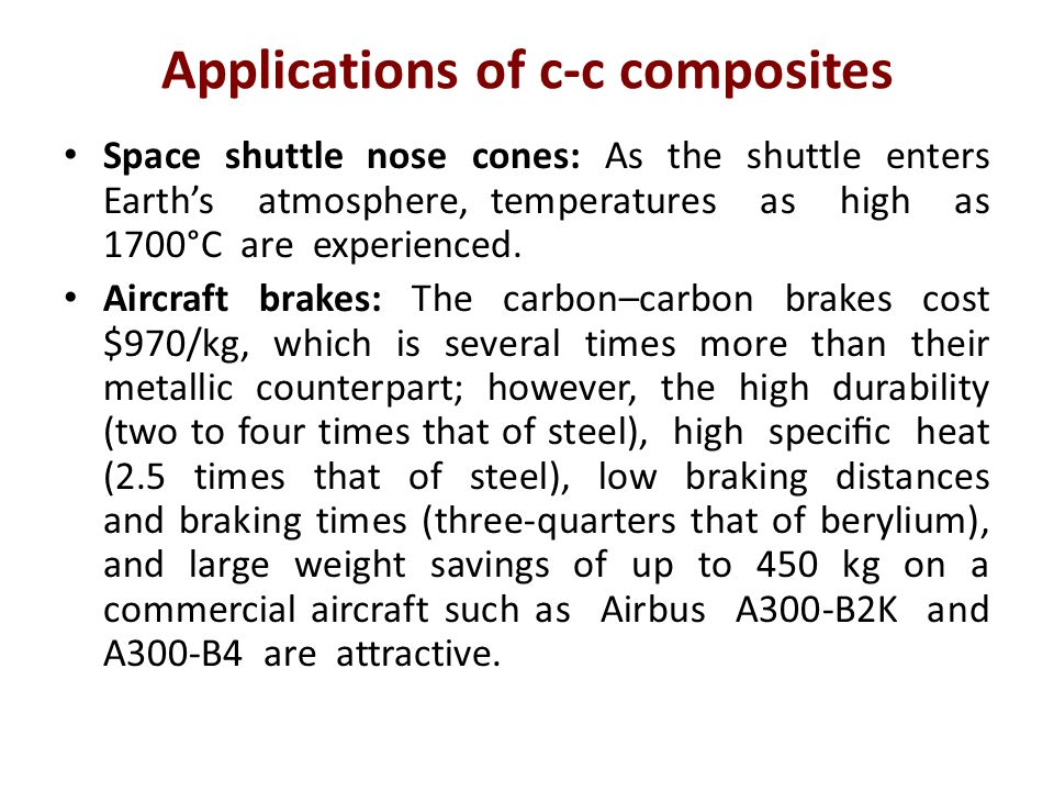 Applications of c-c composites