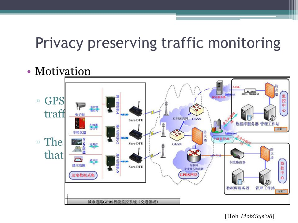 Privacy preserving traffic monitoring