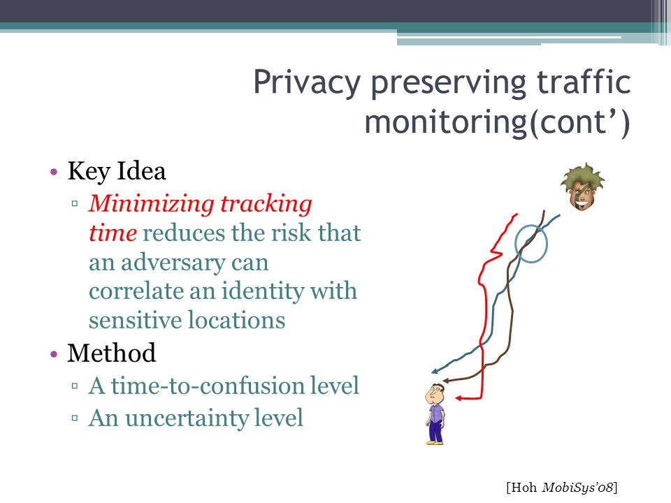 Privacy preserving traffic monitoring(cont')
