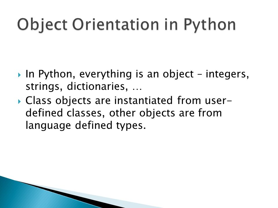 Object Orientation in Python