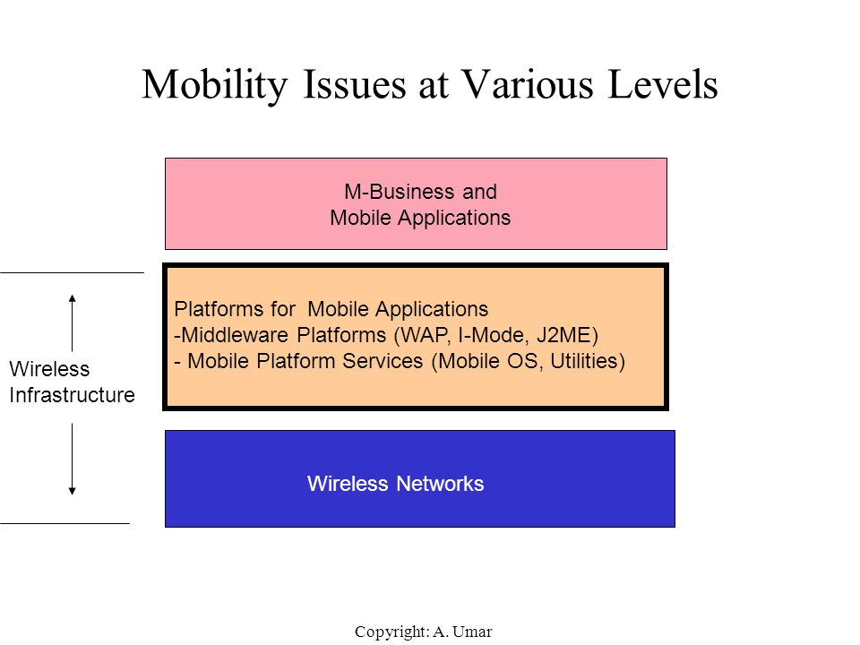 Mobility Issues at Various Levels