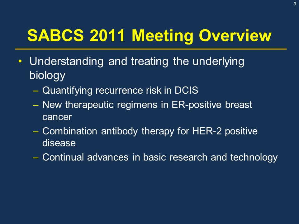 SABCS 2011 Meeting Overview