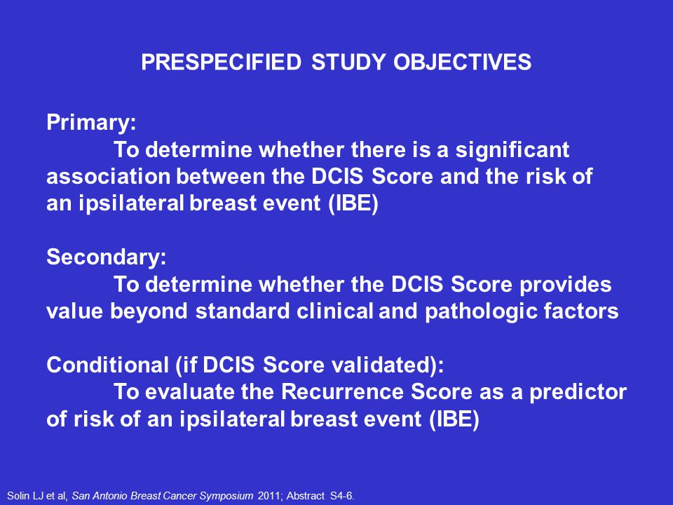 PRESPECIFIED STUDY OBJECTIVES